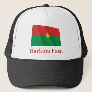 名前のブルキナファソの振る旗 キャップ