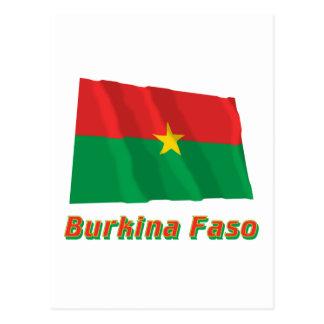 名前のブルキナファソの振る旗 ポストカード