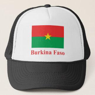 名前のブルキナファソの旗 キャップ