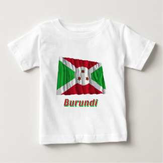 名前のブルンディの振る旗 ベビーTシャツ