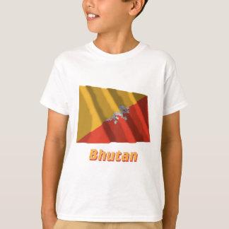 名前のブータンの振る旗 Tシャツ