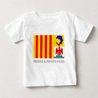 名前のプロバンスAlpes Côte d'Azurの旗 ベビーTシャツ