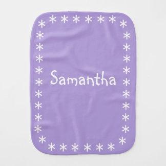 名前のベビーのためのパステル調の紫色のバープクロス バーブクロス