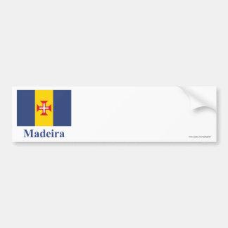 名前のマデイラの旗 バンパーステッカー