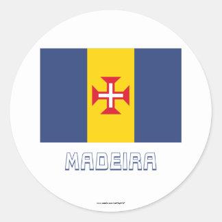 名前のマデイラの旗 ラウンドシール
