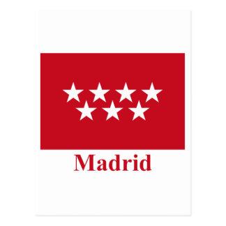 名前のマドリードの旗 ポストカード