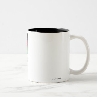 名前のマラウィの振る旗 ツートーンマグカップ