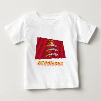 名前のミドルセックスの振る旗 ベビーTシャツ