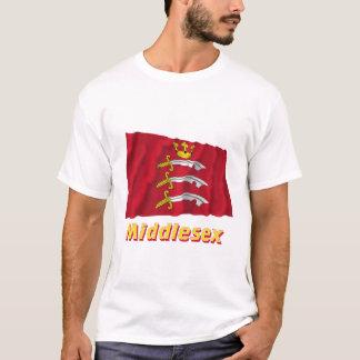 名前のミドルセックスの振る旗 Tシャツ