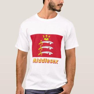 名前のミドルセックスの旗 Tシャツ