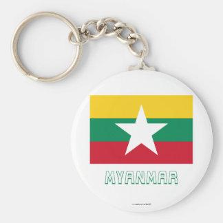 名前のミャンマーの旗 キーホルダー