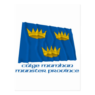 名前のミュンスターの地域の振る旗 ポストカード