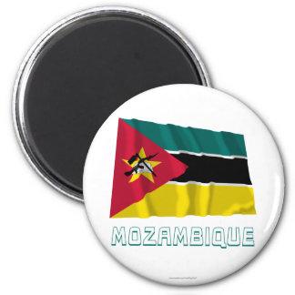 名前のモザンビークの振る旗 マグネット