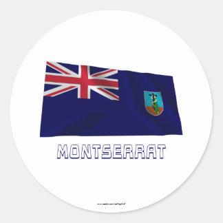 名前のモンセラートの振る旗 ラウンドシール