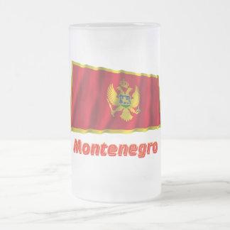 名前のモンテネグロの振る旗 フロストグラスビールジョッキ