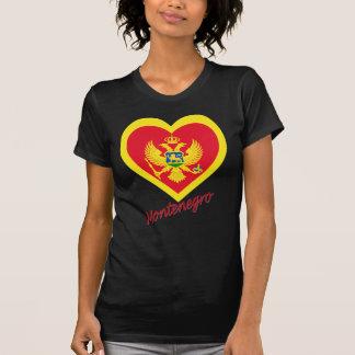 名前のモンテネグロの旗のハート Tシャツ