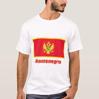 名前のモンテネグロの旗 Tシャツ