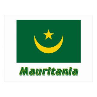 名前のモーリタニアの旗 ポストカード