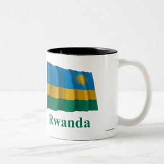 名前のルワンダの振る旗 ツートーンマグカップ