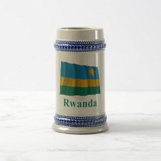 名前のルワンダの振る旗 ビールジョッキ