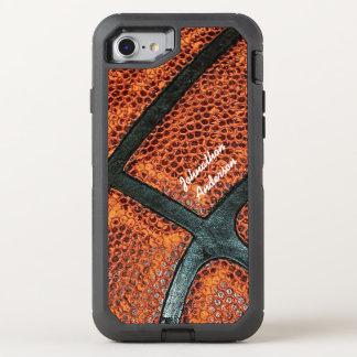名前の古いレトロのバスケットボールパターン オッターボックスディフェンダーiPhone 7 ケース