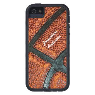 名前の古いレトロのバスケットボールパターン iPhone SE/5/5s ケース