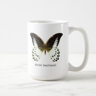 名前の大理石のアゲハチョウ コーヒーマグカップ