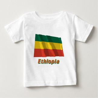 名前の市民旗を振るエチオピア ベビーTシャツ