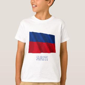 名前の市民旗を振るハイチ Tシャツ