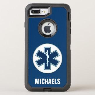 名前の救急医療隊員EMT EMS オッターボックスディフェンダーiPhone 8 PLUS/7 PLUSケース