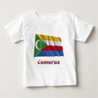 名前の旗を振るコモロ ベビーTシャツ