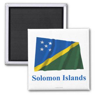 名前の旗を振るソロモン諸島 マグネット
