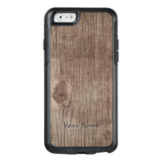 名前の明白な木製の質 オッターボックスiPhone 6/6Sケース