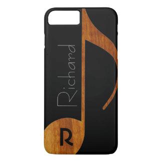 名前の木色音楽ノート iPhone 7 PLUSケース