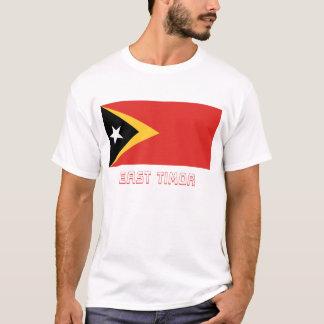 名前の東部チモール島の旗 Tシャツ