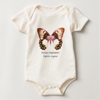 名前の果樹園のアゲハチョウの蝶 ベビーボディスーツ