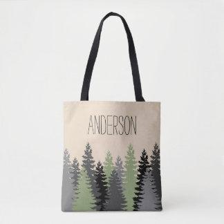 名前の森林森の松の木 トートバッグ