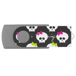 名前の漫画のハロウィンのおもしろいなスカル USBフラッシュドライブ