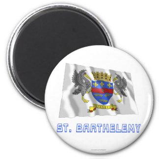 名前の聖者のBarthelemyの振る旗 マグネット