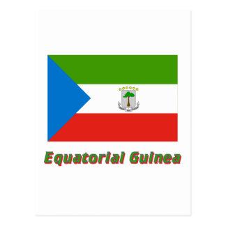 名前の赤道ギニアの旗 ポストカード