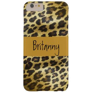 名前の金ヒョウの毛皮のアニマルプリント BARELY THERE iPhone 6 PLUS ケース
