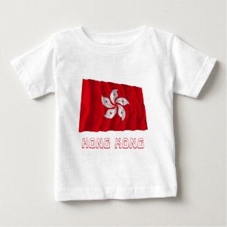 名前の香港の振る旗 ベビーTシャツ