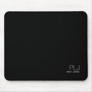名前の黒く明白な色、シンプル及び基本 マウスパッド