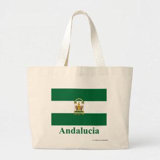 名前のAndalucíaの旗 ラージトートバッグ