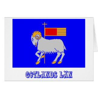 名前のGotlandsのlänの旗 カード
