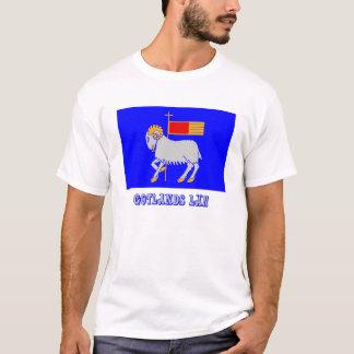 名前のGotlandsのlänの旗 Tシャツ