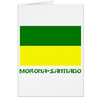名前のMoronaサンティアゴの旗 カード
