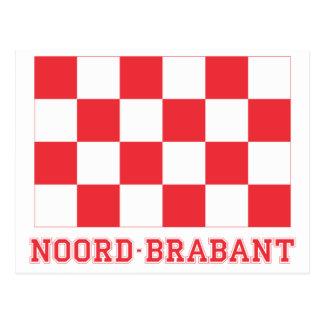 名前のNoordブラバントの旗 ポストカード