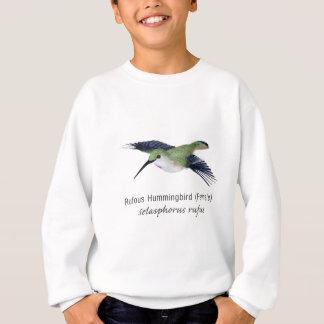 名前のRufousハチドリの女性 スウェットシャツ
