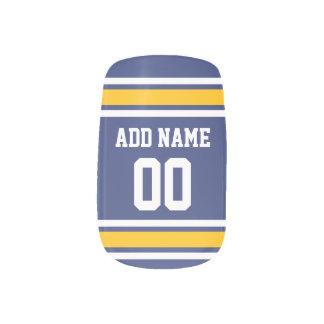 名前をカスタムするおよび数を用いるスポーツのチームジャージー ネイルアート